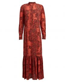Python-Printed Monroe Crepe Dress at Intermix