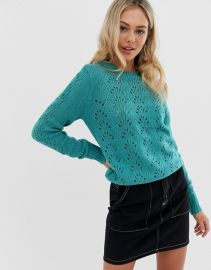 QED London sweater in pointelle knit   ASOS at Asos