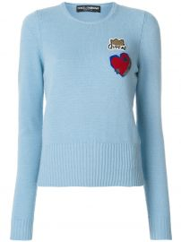 Queen patch jumper by Dolce & Gabbana at Farfetch
