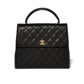 Quilted Caviar Kelly Bag by Chanel at Goop