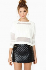 Quilted Zip Skirt at Nasty Gal