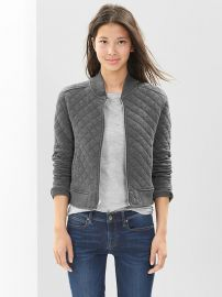Quilted knit bomber jacket at Gap
