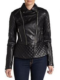 Quilted leather jacket by Dawn Levy at Saks Off 5th