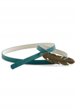 Quinn's blue feather belt on Glee at Modcloth