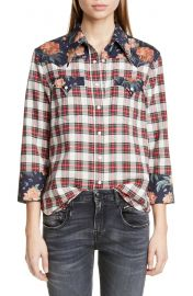 R13 Exaggerated Collar Cowboy Shirt   Nordstrom at Nordstrom