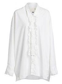 R13 - Drop Neck Lace Tuxedo Shirt at Saks Fifth Avenue