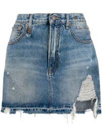 R13 Denim Mini Skirt - Farfetch at Farfetch