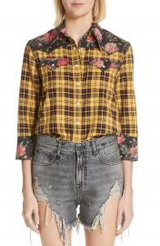 R13 Exaggerated Collar Cowboy Shirt at Nordstrom