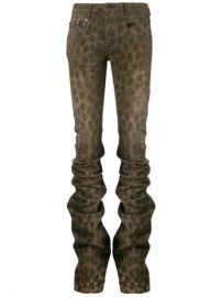 R13 Leopard Print Gathered Skinny Trousers - Farfetch at Farfetch