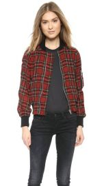 R13 Plaid Shrunken Flight Jacket at Shopbop