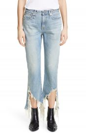 R13 Spiral Kick Ripped Bootcut Jeans  Cheryl    Nordstrom at Nordstrom