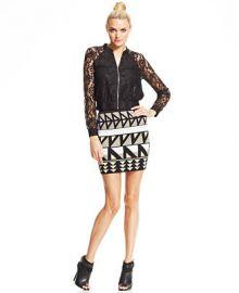 RACHEL Rachel Roy Lace Jacket and Geometric-Print Mini Skirt at Macys