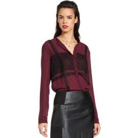 RACHEL Rachel Roy Long-Sleeve High-Neck Lace Blouse at Macys