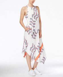 RACHEL Rachel Roy Printed Midi Dress white at Macys