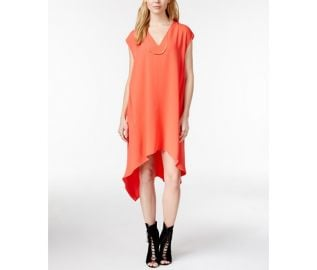 RACHEL Rachel Roy Sydney Dress Cap-Sleeve V-Neck Sheath Dress in pop at Macys