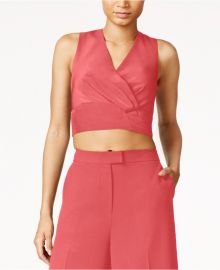 RACHEL Rachel Roy Zip-Back Crop Top  Flamingo at Macys