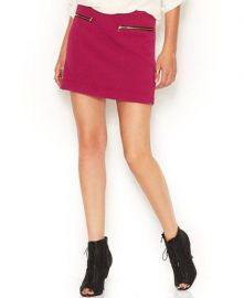 RACHEL Rachel Roy Zipper Pocket Mini Skirt in Pink at Macys