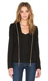 RACHEL ZOE Hilary Blazer in Black from Revolve com at Revolve