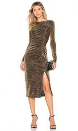 RACHEL ZOE Lovey Dress in Black  amp  Gold from Revolve com at Revolve