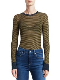 RAG BONE - RAINA LUREX STRIPED CREWNECK SWEATER at Saks Fifth Avenue