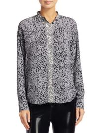 RAG  BONE - CHRISTINE TWO-TONE LEOPARD PRINT BLOUSE at Saks Fifth Avenue