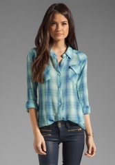 RAILS Taylor Button Down in Mint at Revolve