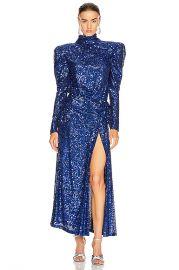 RAISA VANESSA Sequined Maxi Dress in Cobalt Blue   FWRD at Forward