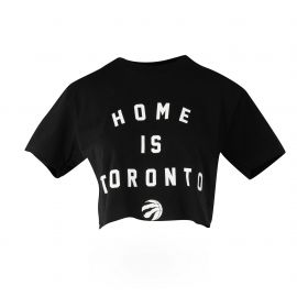 RAPTORS PEACE COLLECTIVE LADIES CROP TEE at Real Sports Apparel