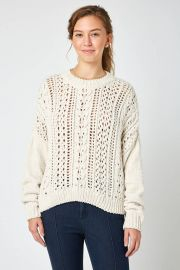 RD Style Pointelle Sweater at South Moon Under