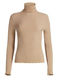 RE DONE - 60s Ribbed Turtleneck at Saks Fifth Avenue