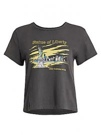 RE DONE - Classic Statue Of Liberty T-Shirt at Saks Fifth Avenue