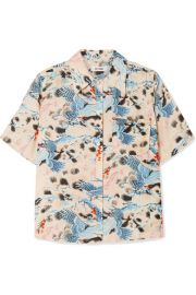 RE DONE - Printed voile shirt at Net A Porter