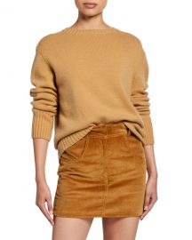 RE DONE 40s Crewneck Cotton Sweater at Neiman Marcus