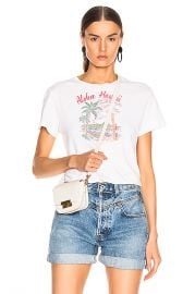 RE DONE Aloha Classic Tee in Vintage White   FWRD at Forward