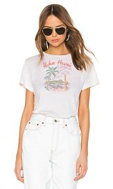 RE DONE Aloha Classic Tee in Vintage White from Revolve com at Revolve