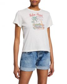 RE DONE Aloha Short-Sleeve Graphic Cotton Tee at Neiman Marcus