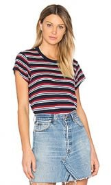 RE DONE Boxy Striped Tee in Red  amp  White from Revolve com at Revolve
