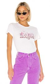 RE DONE Los Angeles Skyline Classic Tee in Vintage White from Revolve com at Revolve