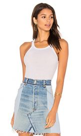 RE DONE Ribbed Tank in Optic White from Revolve com at Revolve