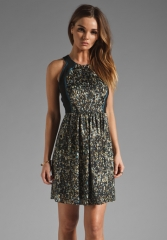 REBECCA TAYLOR Silk and Sequin Dress in Multi at Revolve