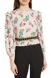RED Valentino Anemone Floral Print Blouse at Nordstrom