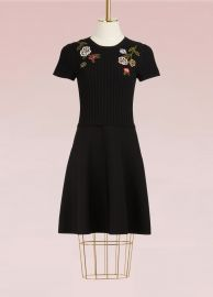 RED Valentino Floral Embroidered Knit Dress at 24 Sevres
