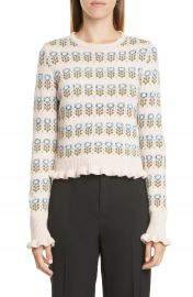 RED Valentino Floral Jacquard Sweater   Nordstrom at Nordstrom