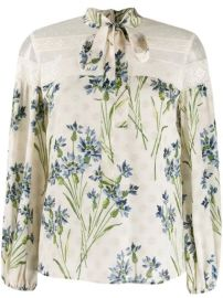 RED Valentino Floral Print Blouse - Farfetch at Farfetch
