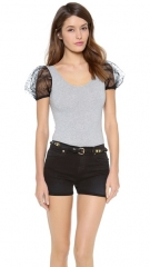 RED Valentino Puff Sleeve Bodysuit at Shopbop