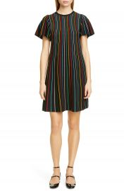 RED Valentino Rainbow Stripe Shift Dress   Nordstrom at Nordstrom
