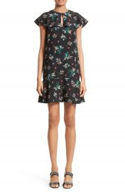 RED Valentino Wallpaper Floral Print Silk Dress at Nordstrom