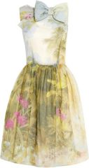RED Valentino painted dress at Net A Porter