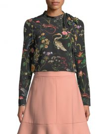 REDValentino Flora-and-Fauna Print Long-Sleeve Blouse and Matching Items at Bergdorf Goodman