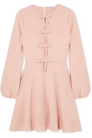 REDValentino   Bow-detailed crepe mini dress at Net A Porter